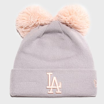 New Era - Bonnet Femme Double Pom Cuff 12040543 Los Angeles Dodgers Gris