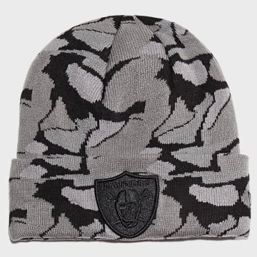 Bonnet Textured Yarn Knit 12040604 Oakland Raiders Gris Noir