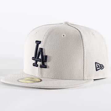 Casquette Fitted 59Fifty Diamond Era 12040395 Los Angeles Dodgers Ecru