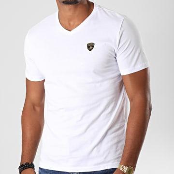 Tee Shirt Col V B3XUB7S5-30260 Blanc