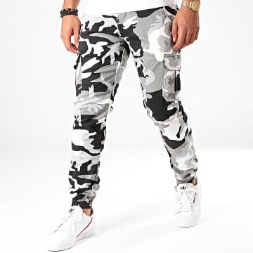 Urban Classics - Jogger Pant Camouflage TB3137 Gris Blanc Noir