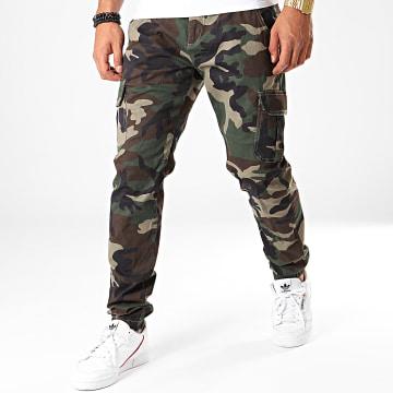 Urban Classics - Jogger Pant Camouflage TB3137 Vert Kaki Marron Noir