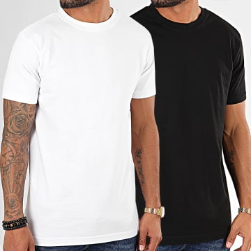 Urban Classics - Lot De 2 Tee Shirts Basic TB2684A Blanc Noir