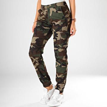 Pantalon Cargo Femme TB3047 Vert Kaki Camouflage