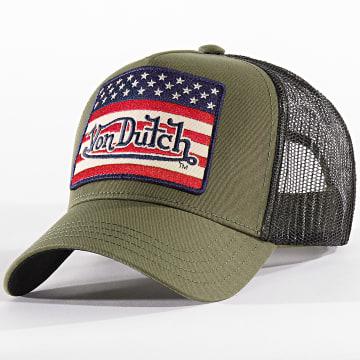 Von Dutch - Casquette Trucker Flag Vert Kaki