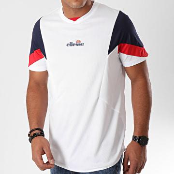 Tee Shirt De Sport Col V Oversize Beasley SEC07499 Blanc Bleu Marine Rouge