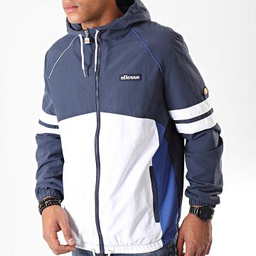 Ellesse - Veste Zippée Capuche Jordan SHC07438 Bleu Marine Blanc