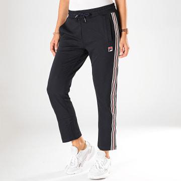 Pantalon Jogging Crop Femme A Bandes Gvantsa 687297 Bleu Marine