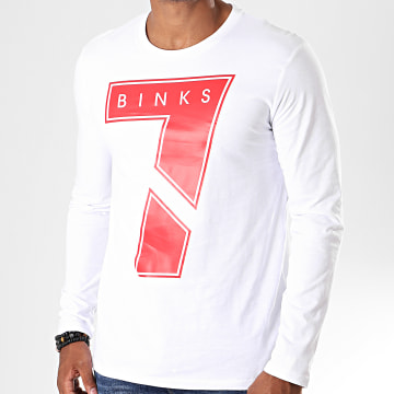 Tee Shirt Manches Longues Seven Blanc Rouge