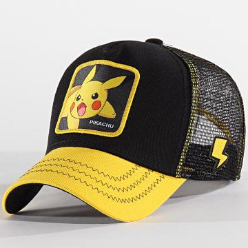 Capslab - Casquette Pikachu Noir Jaune