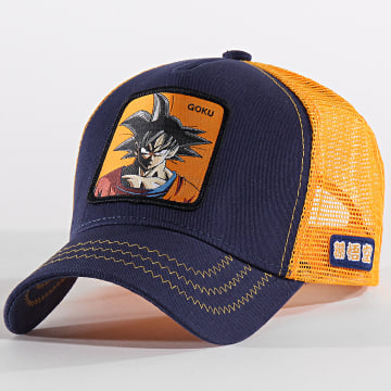 Casquette Trucker Goku Orange Bleu Marine