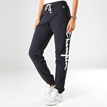 Champion - Pantalon Jogging Femme Elastic Cuff Pant 112151 Bleu Marine