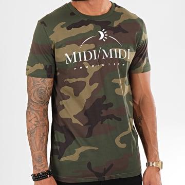 Heuss L'Enfoiré - Tee Shirt Midi Midi Camouflage Vert Kaki