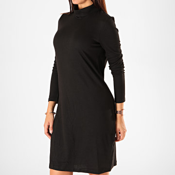 Robe Pull Femme Col Roulé Malena Noir
