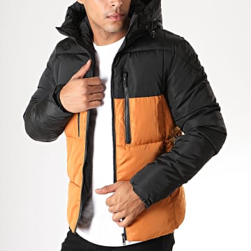 Doudoune 970 Noir Orange