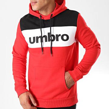 Umbro - Sweat Capuche Aut Hood Noir Blanc Rouge