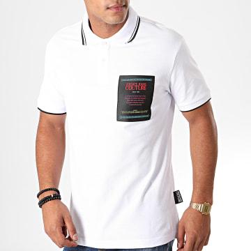 Polo Manches Courtes 622 Label B3GUB722 Blanc Noir
