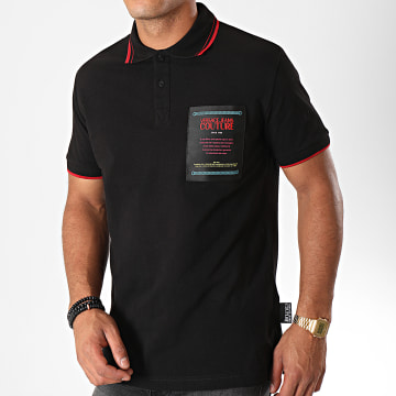 Versace Jeans Couture - Polo Manches Courtes 622 Label B3GUB722 Noir Rouge