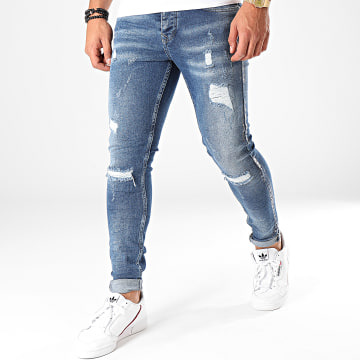 Black Needle - Jean Slim Destroy 2818 Bleu Denim