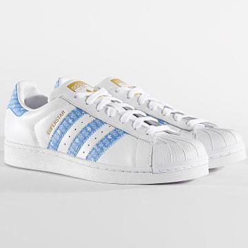Adidas Originals - Baskets Superstar EG2916 Footwear White Real Blue Gold Metallic