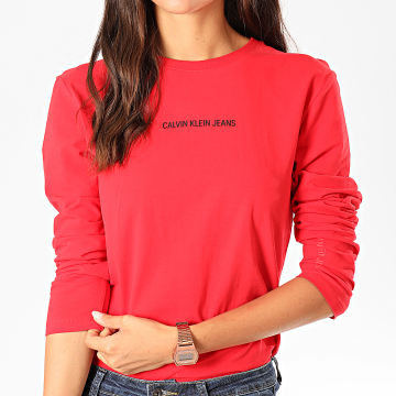 Tee Shirt Manches Longues Femme Institutional Logo Stretch 2259 Rouge Noir