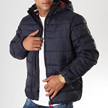 Indicode Jeans - Doudoune Juan Diego Bleu Marine