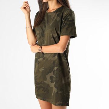 Urban Classics - Robe Tee Shirt Femme TB2221 Vert Kaki Camouflage