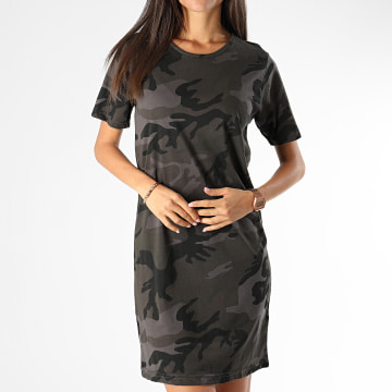 Urban Classics - Robe Tee Shirt Femme TB2221 Gris Anthracite Camouflage