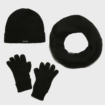 Lot Echarpe Gants Bonnet TB2284 Noir
