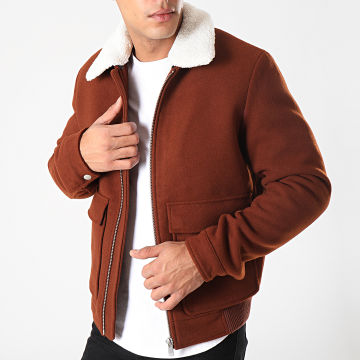Jack And Jones - Blouson Col Mouton Magnus Marron