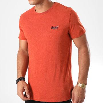 Superdry - Tee Shirt Orange Label Vintage Embroidery M1000020A Brique Chiné