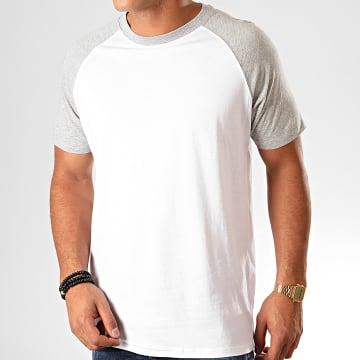 Urban Classics - Tee Shirt TB639 Blanc Gris Chiné