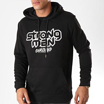 25G - Sweat Capuche Strong Man Noir