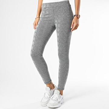 Pantalon Femme Skinny A Carreaux DT186 Gris Blanc Noir