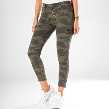 Jean Skinny Femme Camouflage 119 Vert Kaki