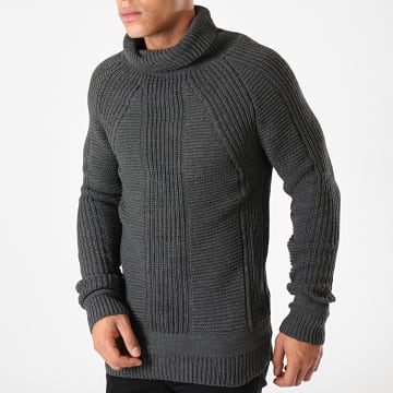 Ikao - Pull Col Roulé F606 Gris Anthracite