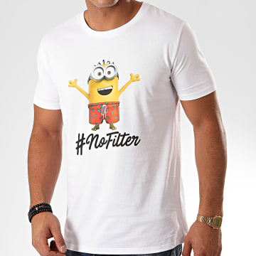 Les Minions - Tee Shirt No Filter Blanc