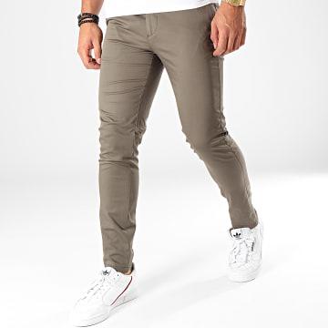 Mackten - Pantalon Chino MKP113 Vert Kaki