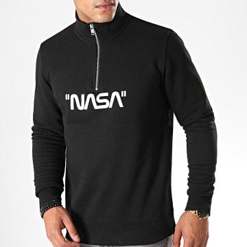 NASA - Sweat Col Zippé Quote Noir