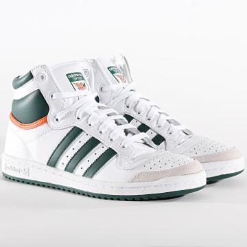 Adidas Originals - Baskets Top Ten Hi EF2516 Cloud White Collegiate Green Orange