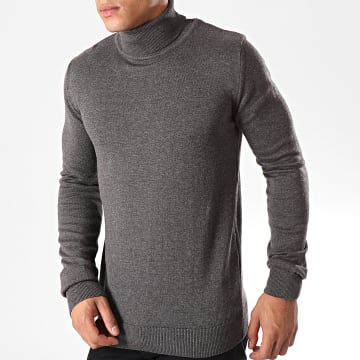 Ikao - Pull Col Roulé P1 Gris Anthracite