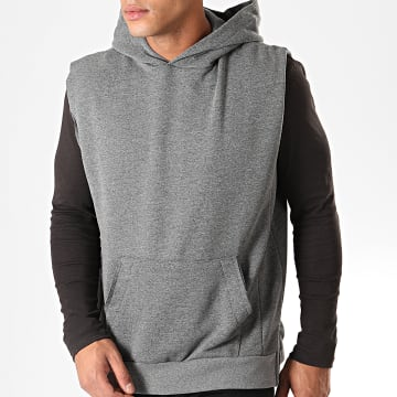 Ikao - Sweat Capuche Sans Manches F690 Gris Anthracite