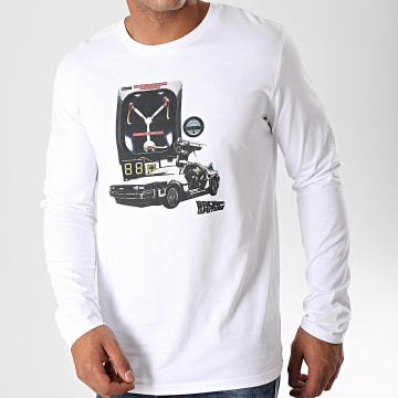 Back To The Future - Tee Shirt Manches Longues Convecteur Blanc
