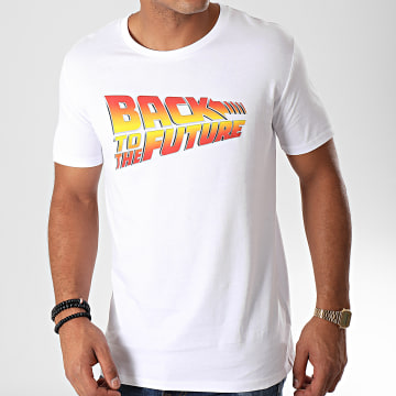 Back To The Future - Tee Shirt Title Blanc