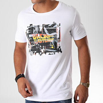 Back To The Future - Tee Shirt Grunge Blanc