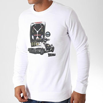 Back To The Future - Sweat Crewneck Convecteur Blanc