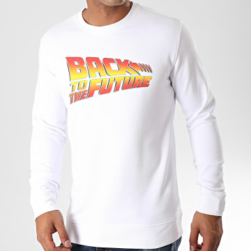 Back To The Future - Sweat Crewneck Title Blanc