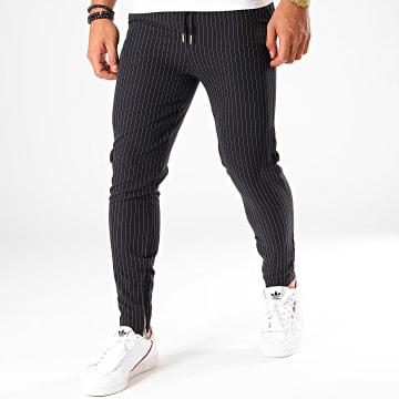 Pantalon Rayures 1639 Bleu Marine