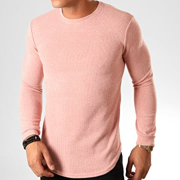 Pull Oversize 517606 Rose Chiné