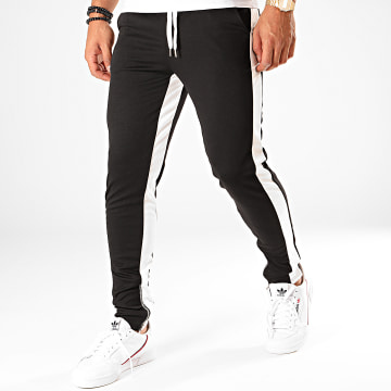 Frilivin - Pantalon Jogging A Bandes 1565 Noir Blanc